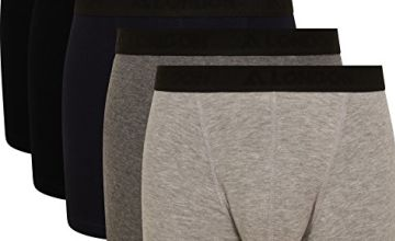 Save on FM London Men's Tagless Boxershorts, Black (Dark Assorted), Small (Pack of 5) and more