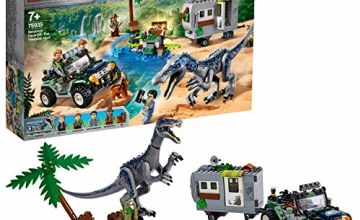 LEGO 75935 Jurassic World Baryonyx Face-Off: The Treasure Hunt Dinosaur Playset with Off Road Buggy Toy