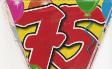 Folat 04551 75th Birthday Garland Balloons-10 m, Multi Colours
