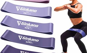 Haquno Resistance Bands, [Set of 5] Skin-Friendly Resistance Fitness Exercise Loop Bands with 5 Different Resistance Levels - Yoga, Pilates, Fitness
