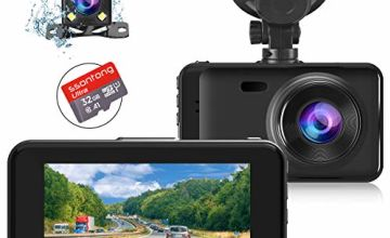"""Dashcams for Cars Front and Rear Dual Dash Cameras FHD 1080P Dash Cam Night Vision【SD CARD INCLUDED】3.0""""IPS Display, Driving Recorder with G-sensor, Parking Monitor, Loop Recording, Motion Detection"""