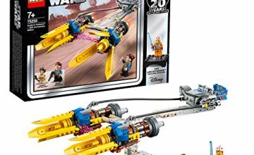 LEGO 75258 Star Wars Anakin's Podracer-20th Anniversary Edition, Bonus Luke Skywalker Minifigure, Episode 1 The Phantom Menace, Colourful