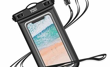 "YOSH IPX8 Waterproof Phone Case, Underwater Phone Pouch Dry Bag with Lanyard for iPhone 11 XS max XR X 8 7 6 plus, Samsung S9 S8, Huawei P30 P20, etc. [up to 7.0""], For Swimming/Snorkelling/Hiking"