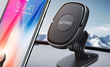 GETIHU Car Phone Holder, 360° Dashboard Mobile Phone Holders for Cars, Universal Magnetic Car Phone Mount GPS, Compatible with iPhone 11 Pro XS Max X 8 Plus Samsung S10 Note 9 HTC Motorola Oneplus etc