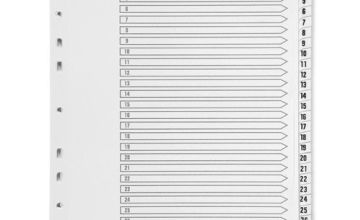 Q Connect Index A4 Multi-Punched 1-31 Reinforced White Board Clear Tabbed