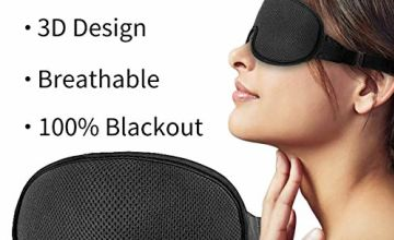 Eye Mask for Sleeping,Sleep mask,New Upgraded 3D Contoured Sleep Mask Men & Women,Ultra Soft Breathable with Adjustable Strap 100% Blackout Eye Shades Blindfold for Complete Darkness …