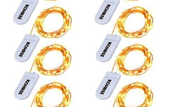Kohree 8Packs 20 LEDs Fairy LED String Lights Copper Wire Lights Battery Operated Starry Fairy Lights for Seasonal Decoration,Holiday, Wedding, Party(Warm White,2.2m /7.2ft)