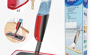 Spray Mop,Aiglam Floor Mop for Floor & Window,360 Degree Floor Cleaner with 4 Free Reusable Microfiber Pads with Scrub Brush and Refillable Bottle for Laminate, Hardwood Floor, Wood, Tile