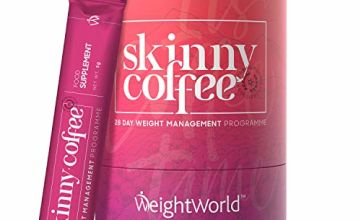 Skinny Coffee - 28 Day Keto Friendly Diet Drink - Energy Booster Powder, Health Supplement, Premium Arabian Coffee With Matcha, Ginseng, Chlorella & Amino Acid Complex, Vegan Friendly Fast Diet Relief