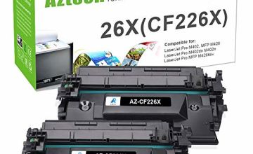 Aztech 2 Pack Compatible for HP CF226X 26X (HP CF226A 26A) Black Toner Cartridge for HP LaserJet Pro M402dn M402n M402d M402dne M402dw MFP M426dw M426fdw M426fdn Ink Toner