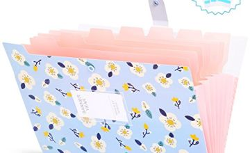 Expanding File Folder Wallet Documents A4 File Folder Pockets with Buckle Closure for Office, Folder with Pockets