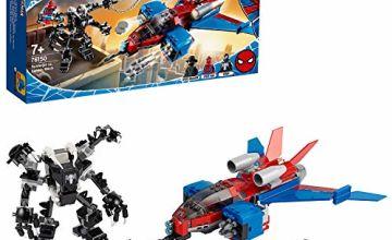 LEGO 76150 Super Heroes Marvel Spider-Man Jet vs. Venom Mech Playset with Spider-Man Noir Minifigure
