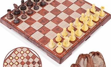 Peradix Children Wooden Memory Matchstick Chess Game Block Board Educational Intelligent Games Logic Brainteaser Toys for Kids Boys and Girls