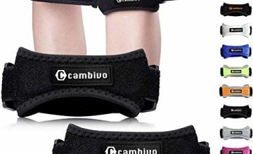 CAMBIVO 2 x Patella Knee Support Strap, Knee Pain Relief Brace and Patella Tendon Band for Hiking, Soccer, Basketball, Baseball, Running, Tennis, Volleyball, Squats and Tendonitis