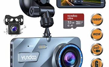 Dash Cam Front and Rear,Dash Cams for Car 1080P FHD Aluminum Shell 4''Big IPS Screen Car Camera with 32GB SD Card 170°Wide Angle,G-Sensor,Loop Recording,Night Vision,Motion Detection