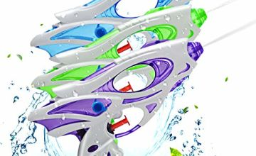 Ucradle Water Pistols For Kids, 3 Pack Super Water Gun Soaker Blaster Cool Small Water Pistol Guns Outdoor Beach Garden Toy Pool Bath Party Water Fighting Toys for Children Adults Girls Boys