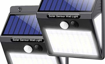 Solar Driveway Light Outdoor, Upgraded 50LED Waterproof Motion Sensor Lights Wireless Solar Lights Outdoor for Garden Fence Yard Patio Pathway Driveway (2 Pack)