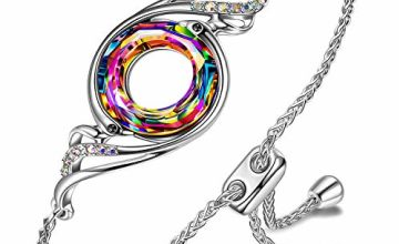 Kate Lynn Nirvana of Phoenix Ajustable Alloy Chain Crystal Bracelet Gifts for Mum Her Birthday Friendship Gifts Ladies Wedding Gifts Jewellery Box Packaging Women Jewellery