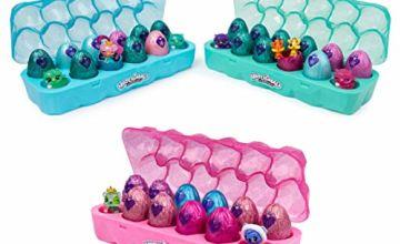 HATCHIMALS 6047215 CollEGGtibles, Season 6, Jewellery Box Royal Dozen 12-pack Egg Carton with 2 Exclusive HATCHIMALS, Multicolour