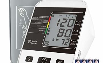 Blood Pressure Monitor for Home Use with Large LCD Display,Digital Upper Arm Automatic Measure Blood Pressure and Heart Rate Pulse,2 Sets of User Memories