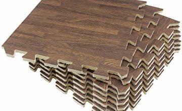 UMI. Essentials Foam Wood Grain Interlocking Floor Mats (9Pieces-9SFT/18Pieces-18SFT/6Pieces-24SFT)