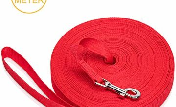 iNeego Dog Training Lead Long Dog Leads Training Leash for Camping Tracking Training Obedience Backyard Play Strong Nylon lead with all Metal Components