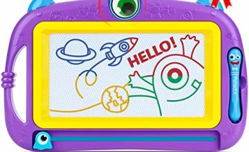 Peradix Magnetic Drawing Boards, Doodle Scribble Writing Board Colorful Pad Educational Learning Toys For Kids Children