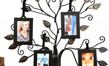 Thetford Design Family Tree Photo Frame with 4 Hanging Pictu