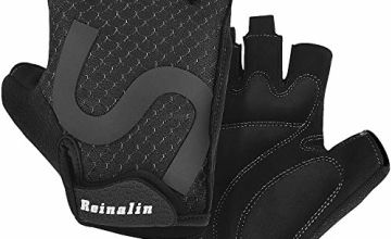 Reinalin Cycling Gloves Mountain Road Bike Gloves Half Finger Bicycle Gloves Shock-Absorbing Anti-Slip Breathable MTB Road Biking Gloves for Men/Women