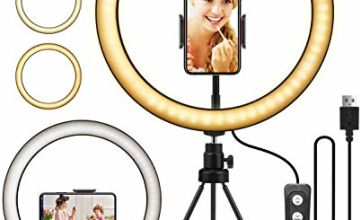 "ELEGIANT Ring Light, 10.2"" LED Ring Light Tripod Photo Video LED Lighting Kit, Adjustable Color Temperature 2700K-5500K, Light Stand, 11 Levels of Brightness for Portrait YouTube Video, Vlog, Makeup"