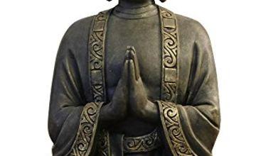 zen 'Light big statue Buddha mediation, resin, Bonze, 37.5x 15 x 24 cm