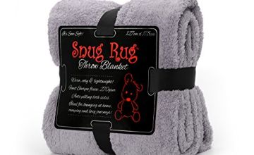 "Snug Rug Special Edition Blankets Sherpa Fleece 127 x 178cm (50"" x 70"") Throw Blanket (Sand Beige)"