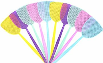 Blooven Fly Swatter 10 Pack Plastic Fly Swat Insect Mosquito Wasp Pest Control Multi-colors