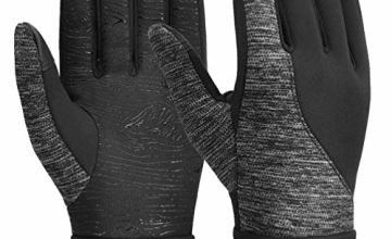 Vbiger Unisex Touch Screen Anti-slip Thickened Winter Warm Running Cycling Gloves Jacquard Gloves