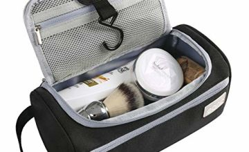 Eono by Amazon - Toiletry Bag Hanging Travel Wash Bag Unisex Gym Shaving Bag for Men and Women