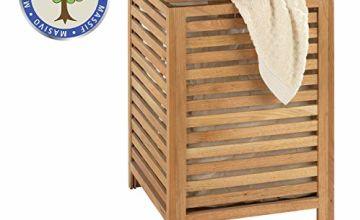 Wenko 18620100 Norway Laundry Basket Walnut Wood 45 x 65 x 45 cm