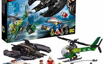 LEGO 76120 DC Batman Batman, Batwing and The Riddler Heist, Super Heroes Toys with Batplane, Police Car and Helicopter