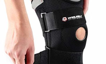 Knee Brace,Adjustable Knee Support,Knee Pads Open-Patella Stabilizer Anti Slip with High Grade Quality Breathable Neoprene for Any Sport Protection,Recovery and Pain Relief(1 Pcs)