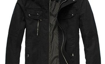 Wantdo Men's Slim Fit Cotton Casual Jacket
