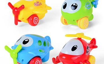 Baoli ABS Plastic Pull Back Cartoon Plane Series Toy for Tod