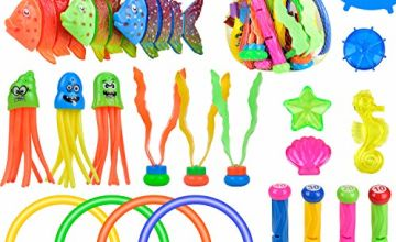 balnore Diving Toys, 28 Pcs Underwater Swimming Pool Toys Water Game for Kids