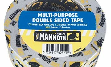 Everbuild Mammoth Multi -Purpose Double Sided Tape - White/Clear - 50 mm x 25m