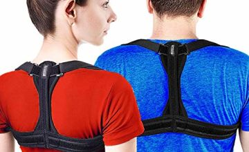 Modetro Sports Posture Corrector Spinal Support - Physical Therapy Posture Brace for Men or Women - Back, Shoulder, and Neck Pain Relief - Spinal Cord Posture Support