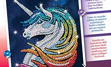 Sequin Art 1923 Unicorn Stardust Craft Kit From The Red Range 28 x 37 cm