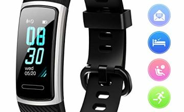 FITFORT Fitness Tracker HR - Activity Trackers Health Sports Watch with Heart Rate Monitor, Calorie Counter, Pedometer Step Counter, Sleep Monitor, IP68 Waterproof, Smart Band for Kids, Women & Men