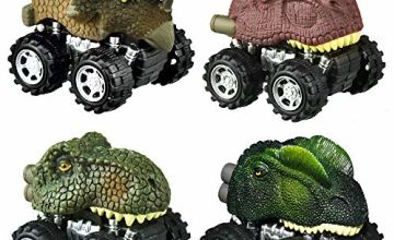 SOKY Pull Back Dinosaur Cars - Best Gifts for Kids