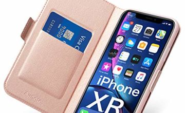 iPhone Flip Case with Card Holder, Magnetic Closure, Kickstand - Ultra Slim Leather Wallet/Folio (Hard PU+Soft TPU) Full Cover - Complete Protection for Apple Phone