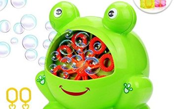 Betheaces NO.321 Bubble Machine with 2 Bottles of Liquid, Bubble Maker Toys for Kids Boys Girls Baby Toddlers, Automatic Bubble Blower 500 Bubbles per Minute Gifts for Indoor Outdoor Game-Green
