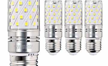 LED Corn Bulbs, E14 Small Edison Screw, 12W, 1200Lm, 6000K Daylight White, Pack of 4