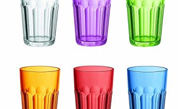 Guzzini 07230652 Plastic Glasses 6-Piece Set Highly Polished